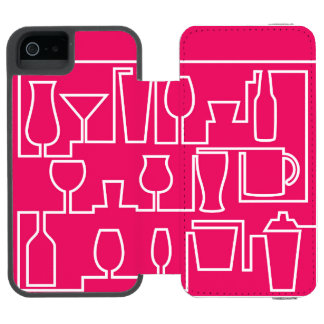 Pink cocktail party incipio watson™ iPhone 5 wallet case