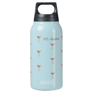 Pink cocktail with lemon no alcohol baby blue insulated water bottle