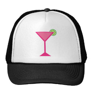 Pink Cocktail With Lime Cap