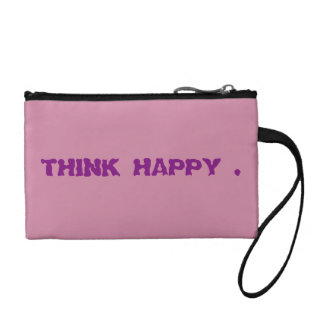 Pink coin purse think happy