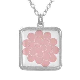 pink collar peony custom necklace