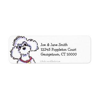Pink Collar Poodle Clean & Simple Return Address Label