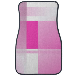 Pink color blocks car mat