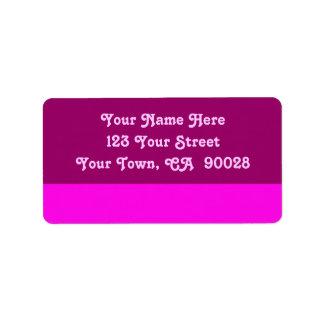 pink color address label