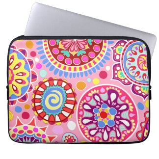 Pink Colorful Abstract Art Laptop Sleeve