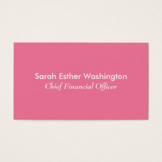 Pink Colour Business Card