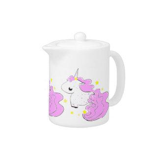 Pink colour cartoon unicorns with stars cute