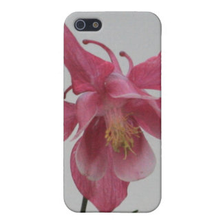 Pink Columbine 4/4s Case For The iPhone 5