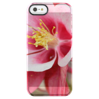 Pink Columbine Clear iPhone SE/5/5s Case