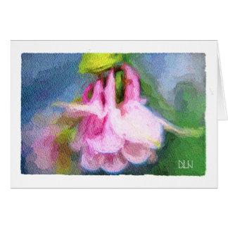 Pink Columbine/Floral/Watercolor Look Card