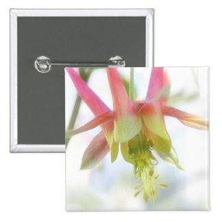 Pink Columbine Flower Pin