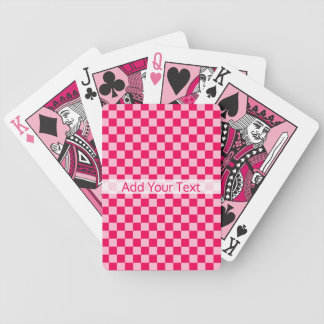 Pink Combination Classic Checkerboard by STaylor Bicycle Playing Cards