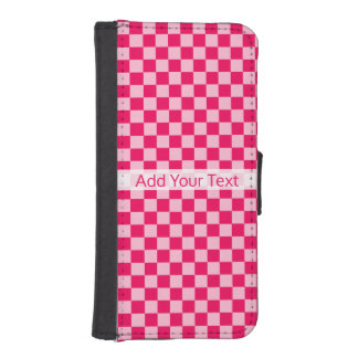 Pink Combination Classic Checkerboard by STaylor iPhone SE/5/5s Wallet Case