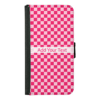 Pink Combination Classic Checkerboard by STaylor Samsung Galaxy S5 Wallet Case