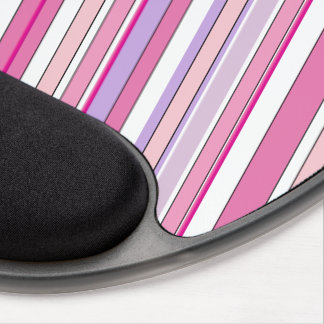 Pink Combo Stripes Gel Mouse Pad