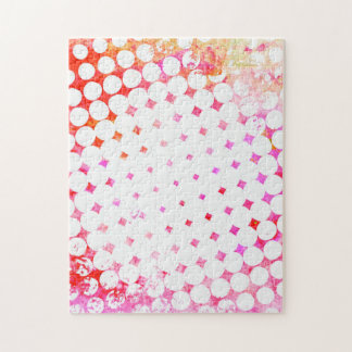 Pink Comic Book Blast Design Jigsaw Puzzle