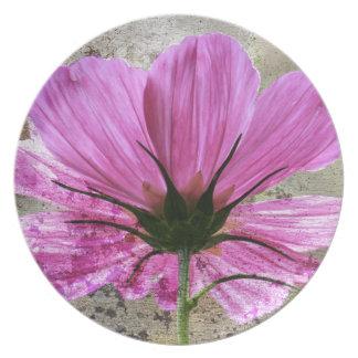 Pink Comos Flower Plates