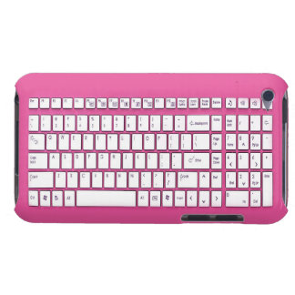 Pink computer keyboard iPod Case-Mate cases