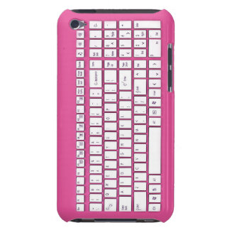 Pink computer keyboard iPod touch cases
