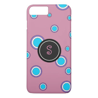 Pink Concentric Circles iPhone 7 Plus Case
