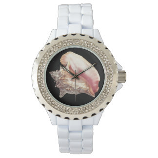 Pink Conch Shell Woman's Watch