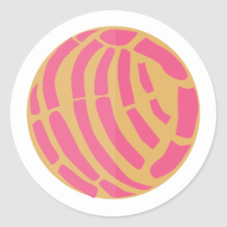 Pink Concha Méxican sweet bread pan dulce Classic Round Sticker