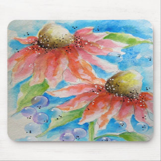 Pink Cone Flowers Mouse Pad