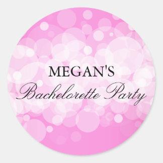 Pink Confetti Bachelorette Party Sticker