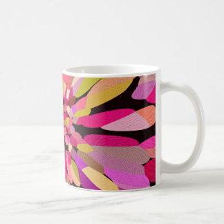 Pink Confetti Flower Coffee Mugs