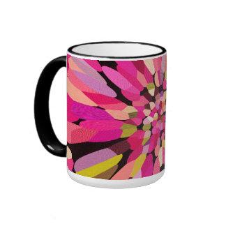 Pink Confetti Flower Mugs