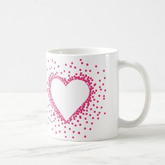 Pink Confetti Heart Mug