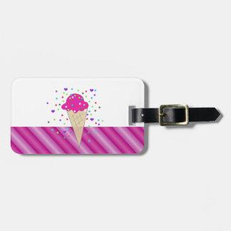 Pink Confetti Ice Cream Luggage Tag