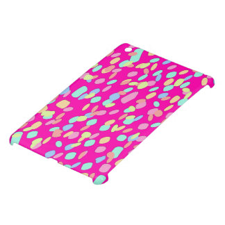 Pink Confetti Pattern Design iPad Mini Cover
