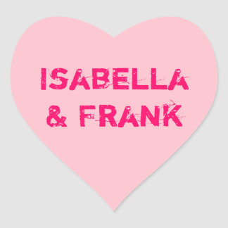 Pink Conversation Heart Heart Sticker