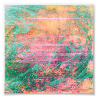 Pink Coral and Turquoise Marble Texture Photographic Print