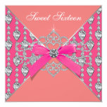 Pink Coral Diamonds Coral Sweet 16 Birthday Party