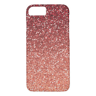 Pink Coral Faux Glitter iPhone 7 Case