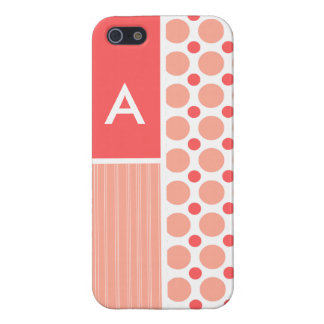 Pink & Coral Polka Dots, Dots Covers For iPhone 5