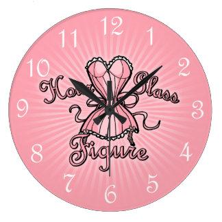 Pink Corset Hourglass Figure Large Clock