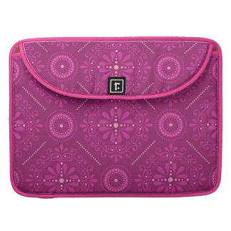 Pink Cosmic Damask Sleeves For MacBook Pro