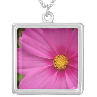 Pink Cosmo Square Pendant Necklace