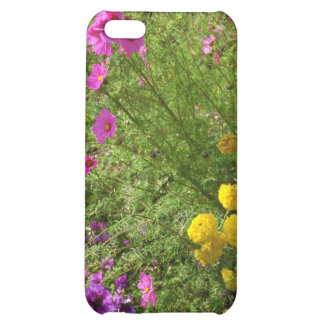 Pink Cosmos And Yellow Mums flowers iPhone 5C Cover