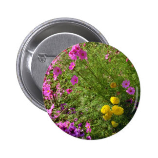Pink Cosmos And Yellow Mums flowers Pins