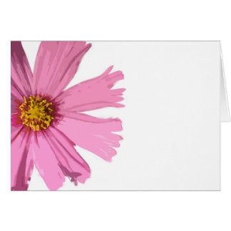 Pink Cosmos Blank Greeting Card