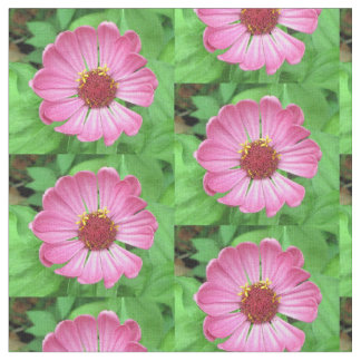 Pink Cosmos Blossom Fabric