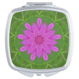 Pink Cosmos Compact Mirror
