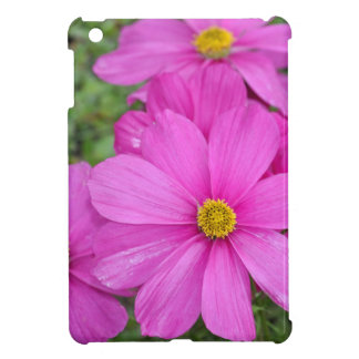 Pink cosmos flower garden iPad mini covers