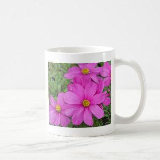 Pink cosmos flower garden mug