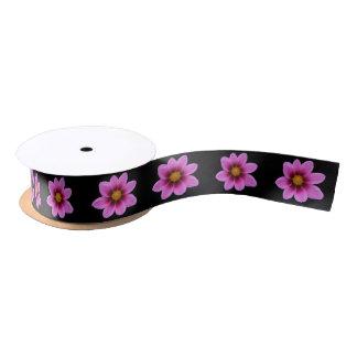 Pink Cosmos Flower Satin Ribbon
