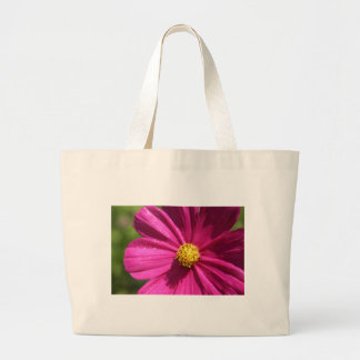Pink Cosmos Large Tote Bag